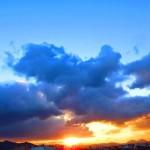 吉田太陽の丘公園からの夕景