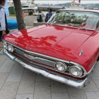 chevrolet-impala シボレーインパラ、レッド、赤