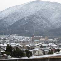 寒波襲来北九州市小倉南区